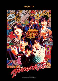 Retro Poster, Vintage Posters, Bts Poster, Bts Army Bomb, Kpop Posters, Bts Book, Bts Aesthetic Pictures, Bts Lockscreen, Bts Pictures