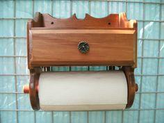 Wooden Paper Towel Holder, $48.00