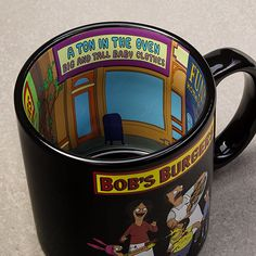 This Bob's Burgers with Inside Print Mug is a must for fans of the hit animated show. Coffee Is Life, My Coffee, Coffee Cups, Tea Cups, Bobs Burgers Gifts, Bobs Burgers Memes, Bob's Burgers Merchandise, Favorite Tv Shows, My Favorite Things
