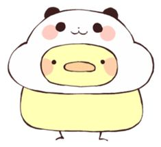 Find images and videos about kawaii, bird and transparent on We Heart It - the app to get lost in what you love. Big Panda, Panda Art, Panda Love, Panda Panda, Panda Wallpapers, Cute Wallpapers, Cute Little Drawings, Easy Drawings, Cute Embroidery Patterns