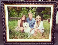 Custom Frame your family portrait for the holidays! #family #customframe #gift