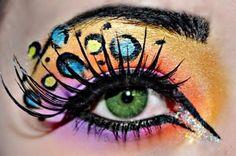 Zebra Print Eyeshadow Tumblr | pretty makeup on Tumblr