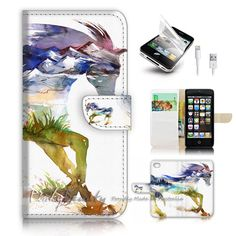 iPhone 5 5S SE Flip Wallet Case Cover P2973 Horse