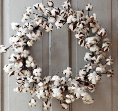 """26"""" Extra Large Cotton Wreath $42.50 - White accent for bedroom? or living room??"""