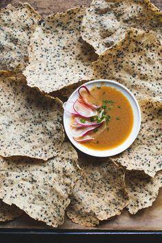 Black Sesame and Wild Rice Crackers {Gluten-free} - Snixy Kitchen