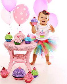Bebé niña 1er cumpleaños Tutu conjunto - bebé niña Tutu - traje de cumpleaños - pastel foto Smash Prop