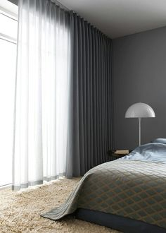 I love having the options of sheer curtains and solid curtains on same rod or sa. I love having the options of sheer curtains and solid curtains on same rod or same window up high! Curtains Living, Master Bedroom Curtains, Bedroom Windows, Home, Ceiling Curtains, Curtains Living Room, Bedroom Design, Home Curtains, Solid Curtains