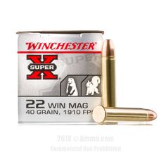 Winchester 22 WMR Ammo - 50 Rounds of 40 Grain FMJ Ammunition  #22WMR #22WMRAmmo #Winchester #WinchesterAmmo #Winchester22WMR #FMJ