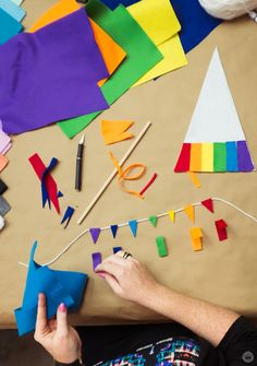 Rainbow flag DIY for LGBTQ Pride Month