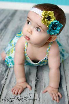 Baby flower girl headband #timelesstreasure.theaspenshop