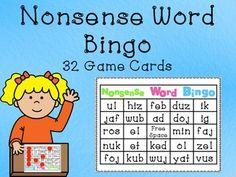 Nonsence Word Bingo Class Set (32 cards)