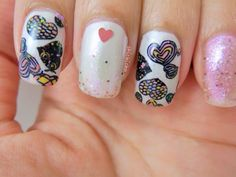 Valentine's Day Nail Art with QA86 Image Plate