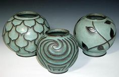 Vases: by award-winning ceramic artist Jane Woodside