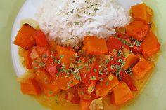 Fruchtig - pikantes Gemüsecurry mit Tomaten und Hokkaido - Kürbis | Chefkoch.de