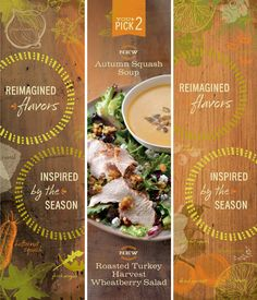 nice colors for fall - Panera Autumn Arrivals by Willoughby Design , via Behance