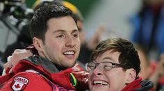 Frederic Bilodeaux, Who Has Cerebral Palsy, Celebrates His Brother's Olympic Gold Medal Ski Run