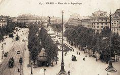 La place de la République, vers 1900. Paris France, Paris 1900, Old Paris, Paris Images, Paris Pictures, Old Pictures, Image Paris, Paris Vintage, Ville France