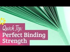 ▶ Perfect Binding Strength - YouTube