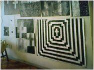 Retábulo Giz e têmpera sobre tecido de algodão 102 x 129 cm R$: 6.517,48