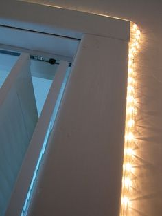 rope lights inside the closet to have access to clothes during a mid-night blow out haha