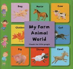A great introduction to farm vocabulary with 9 tiny farm books.  Each one covers where the animal lives, the animal noise, what they eat and more!