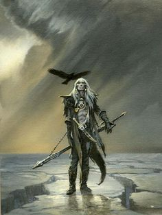 Elric in Exile | A finished Elric concept from Michael Whelan completed in 2012 #elric