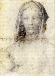 Pisanello, Madonna che allatta il Bambino, su carta filigranata, entro 1448 ca (Parigi - Louvre, Départment des Arts Graphiques)