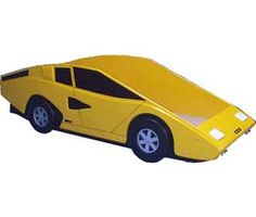Yellow Sports Car Bed