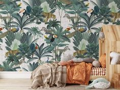 A Jungle Dots removable wallpaper. Exotic animals in the jungle with playful dots create your little Bali in the living room, workspace, or hallway. Easy do-it-yourself wall fabric. Choose between Peel & Stick Wallpaper or Pasted Wallpaper (Free adhesive). Free shipping above $250 in Australia 🇦🇺 Floor Skirting, Skirting Boards, Exotic Animals, Exotic Pets, Wallpaper Paste, Peel And Stick Wallpaper, Wall Fabric, Removable Wall Murals, Rectangle Shape