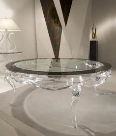 MADEMOISELLE COFFEE TABLE by Shahrooz shahrooz-art.com - #AcrylicFurniture, #LuciteFurniture ACRYLICORE by Shahrooz is one of the top-leading designers and manufacturers in Fine Clear Acrylic Furniture and #Sculptures in the country. www.shahrooz-art.com  888-406-4846