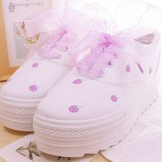 Or open a free online store. Kawaii Shoes, Kawaii Clothes, Pink Outfits, Cute Outfits, Kawaii Accessories, Cinderella Shoes, Pastel Fashion, Fancy Shoes, Kids Fashion