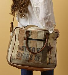 Seeds of Love Recycled Canvas Carry-all Water proof Bag
