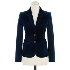 Suits & Suit Separates Amiable Jones New York Womens Dark Blue 100% Pure Wool Single Button Blazer Size 8 Up-To-Date Styling