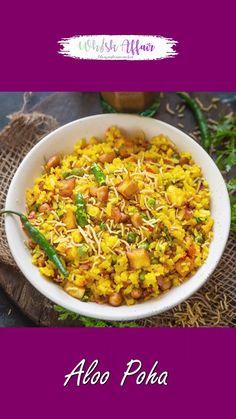 Poha Recipe, Bhaji Recipe, Biryani Recipe, Spicy Recipes, Cooking Recipes, Tastemade Recipes, Indian Dessert Recipes, Vegetarian Snacks, Madhya Pradesh