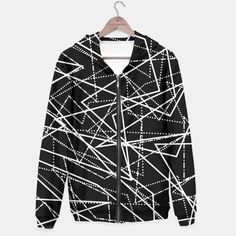 Modern Black & White Lines Hoodie, Live Heroes Black And White Lines, Blazer, Hoodies, Tank Tops, Stylish, Sweaters, Jackets, Shopping, Sweater
