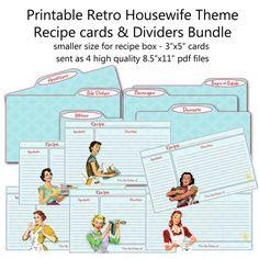 3 x 5 recipe cards