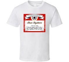 King Of Hvac Engineer Beer Label Parody T Shirt