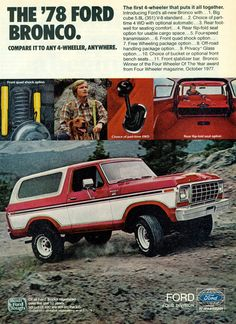1978 Ford Bronco 4X4 SUV