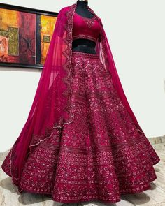 Indian Bridal Outfits, Indian Bridal Fashion, Indian Bridal Wear, Indian Fashion Dresses, Indian Designer Outfits, Wedding Outfits, Wedding Lehenga Designs, Designer Bridal Lehenga, Latest Bridal Lehenga Designs