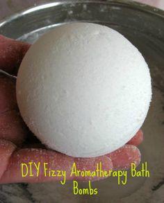 DIY Fizzy Aromatherapy Bath Bombs - Domestic DIY