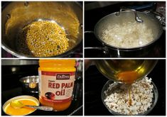 Homemade Popcorn w Red Palm Oil and Hemp Seed Why Microwave Popcorn Is An Absolute Health Nightmare Healthy Popcorn, Healthy Snacks, Healthy Life, Whole Food Recipes, Snack Recipes, Cooking Recipes, Thm Recipes, Homemade Popcorn Recipes, Homemade Butter