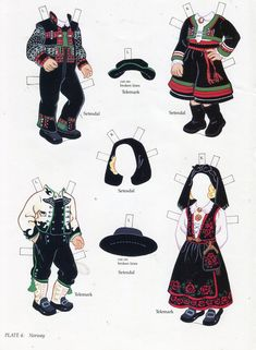 Scandinavian girl and boy - paper doll 5