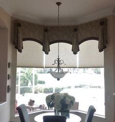 arch is nice shape for top and pelmets are good way to frame each arch