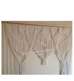 Doorway Curtain, Window Curtains, Macrame Curtain, Large Macrame Wall Hanging, White Curtains, Cotton Rope, Fiber Art, Flower Arrangements, Backdrops
