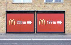 cool outdoor McDonald's  #marketing #ambient #cool #idea