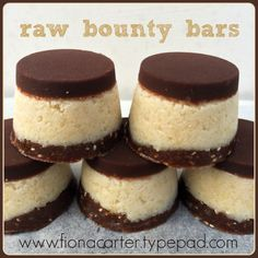 Raw bounty bars #rawfood #coconut #rawcacao