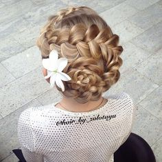 Flower braid updo | awesome look