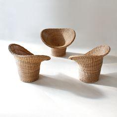 Egon Eiermann E 20 rattan armchair, 1948, Germany - MANUFACTURER: Heinrich Murrmann - basketware