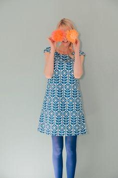 "A-LINIEN-KLEID ""STOCKHOLM"" IN BLAU von Bonnie & Buttermilk auf DaWanda.com #dress #dresses #flowers #kleid #bonnieandbuttermilk #local #localfashion #fashion #handmade #berlin #tshirt #outfit #outfitoftheday #berlin"