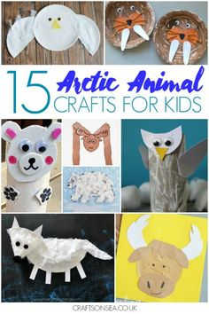 25 Easy and Fun Arctic Animal Crafts for Kids Easy and cute arctic animal crafts for kids including orcas, reindeers, snowy owls, moose crafts walruses and polar bears. Animal Crafts For Kids, Winter Crafts For Kids, Animals For Kids, Kids Crafts, Moose Crafts, Bear Crafts, Artic Animals, Polo Norte, Animal Activities